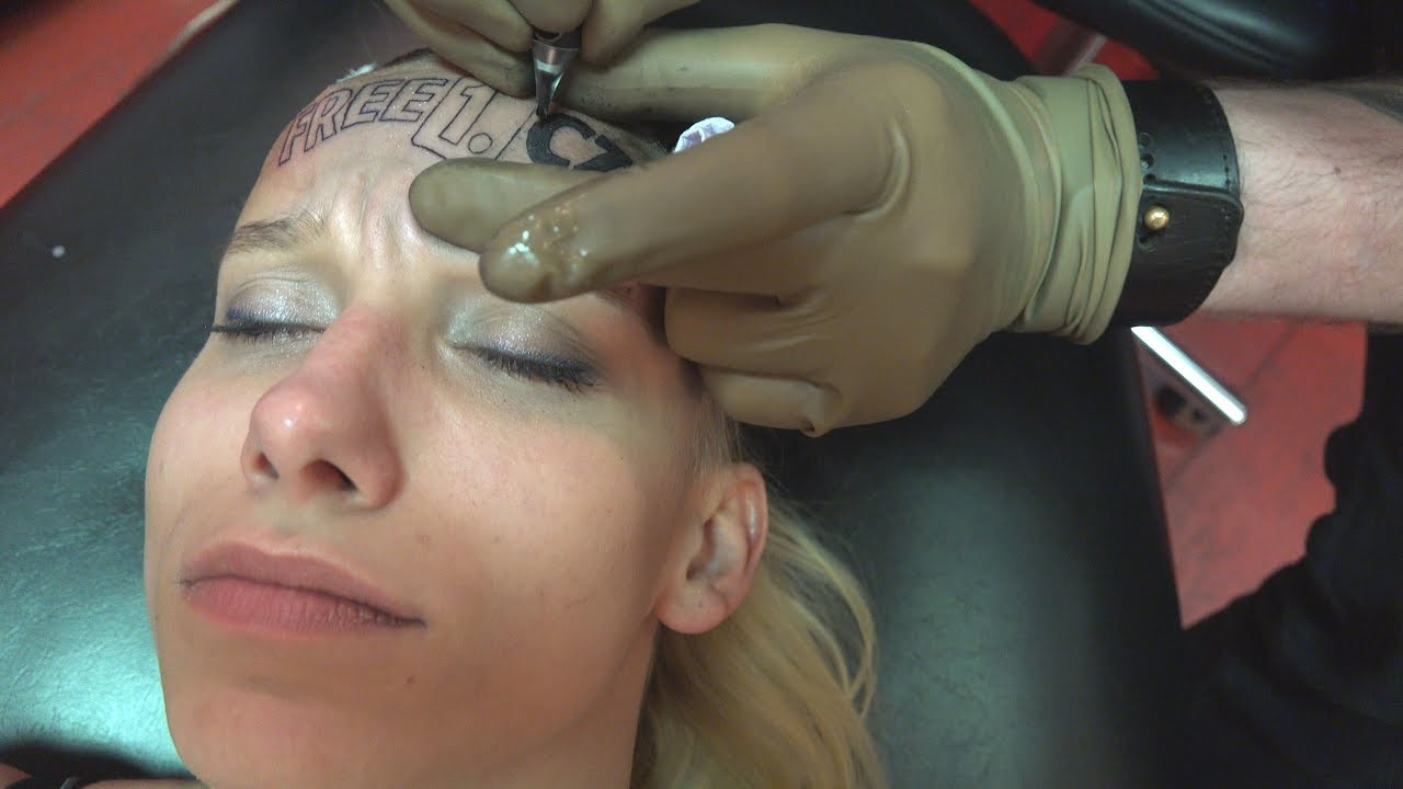 Tattoo on Forehead for $5k - Anything for Money