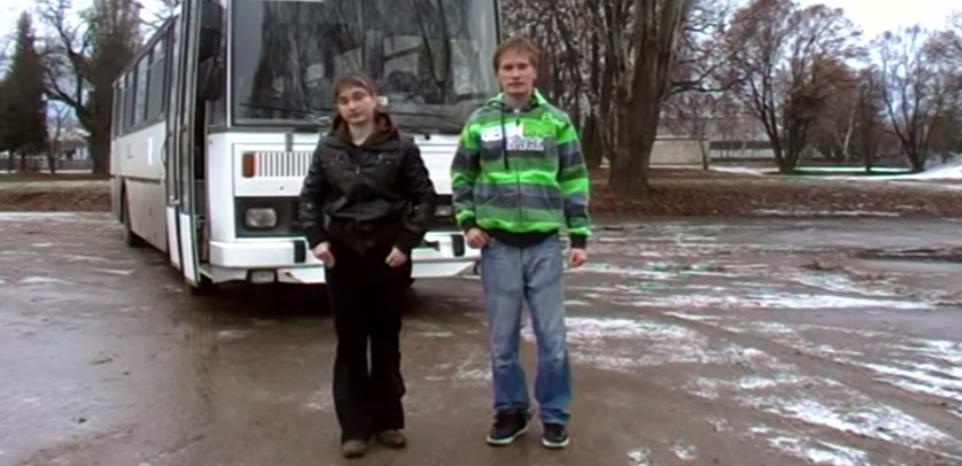 Katka Peclová a Jindra Polášek - Rychlá jízda - Bus