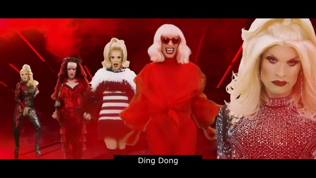 Katya - Ding Dong! feat.@Trixie Mattel - English lyrics with phonetic Russian